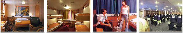 Accommodation on Board - Grimaldi Euromed