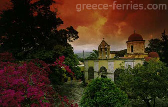 The Chryssopygis Monastery Chania Crete Greek Islands Greece