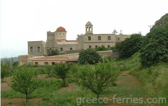 The Gonias Monastery Chania Crete Greek Islands Greece