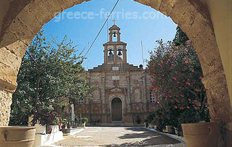 The Goubernetou Monastery Chania Crete Greek Islands Greece