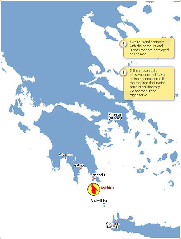 Kythira Greece  City new picture : Kythira Greece Map