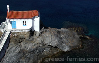 Agia Thalassini Andros Cyclades Greek Islands Greece