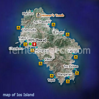 Islands Of Greece Map.Ferries To Ios Ios Travel Guide Map