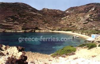 Klima Beach Kimolos Island Cyclades Greece