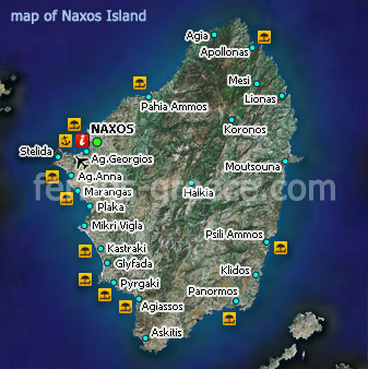 Ferries to Naxos Naxos Travel Guide  Map