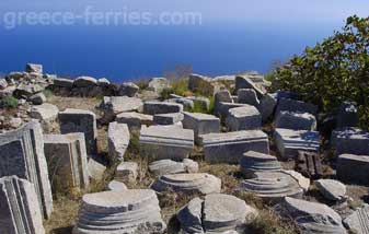Ancient Thira Santorini Cyclades Greek Islands Greece