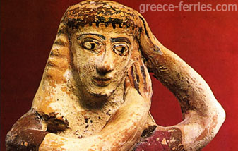 Het Archeologisch Museum Santorini Thira Cyclades Greek Islands Greece