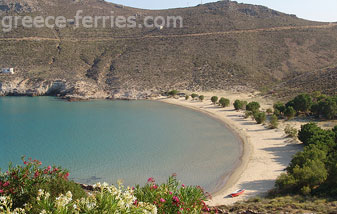 Psili Ammos Beach in Serifos Island Cyclades Greece