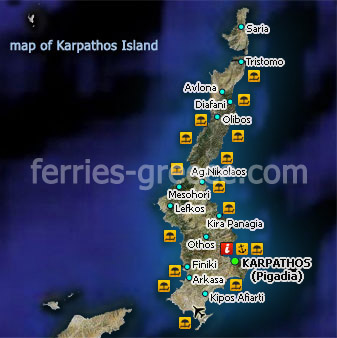 Ferries to Karpathos, Karpathos Travel Guide - Map on ilia greece map, antikythera greece map, hersonissos greece map, chalcis greece map, grevena greece map, patrai greece map, serifos greece map, samothrace greece map, phocis greece map, istanbul greece map, troy greece map, kifisia greece map, aegean sea greece map, armenia greece map, ithaka greece map, karystos greece map, livadia greece map, karpenisi greece map, lipsi greece map, kalavryta greece map,