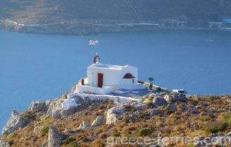 The Church of Agios Georgios Leros Dodecanese Greek Islands Greece