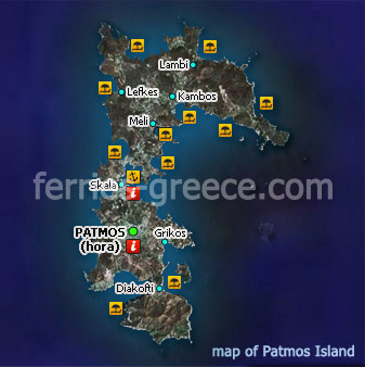Ferries To Patmos Patmos Travel Guide Map