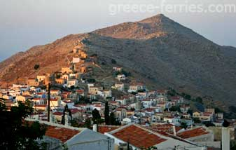 Horio or Ano Symi Dodecanese Greek Islands Greece
