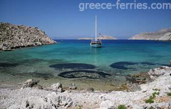 Agios Aimlianos Beach Symi Dodecanese Greek Islands Greece