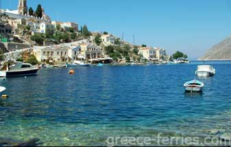Agios Georgios Disalona  Beach Symi Dodecanese Greek Islands Greece