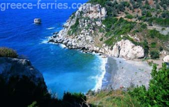 Beaches in Samos East Aegean Greek Islands Greece