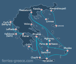 Ferries and Boats to Paxi island Ionian greek islands Greece