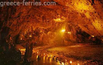 The Cave of Drakena Kefalonia Greek Islands Ionian Greece