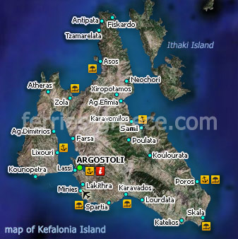 Ferries to Kefalonia Kefalonia Travel Guide Map