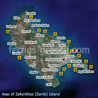 Ferries To Zakynthos Zakynthos Travel Guide Map