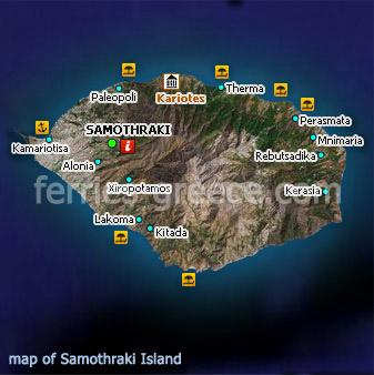 Ferries to Samothraki Samothraki Travel Guide Map
