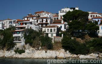 Architecture of Skiathos Greek Islands Sporades Greece