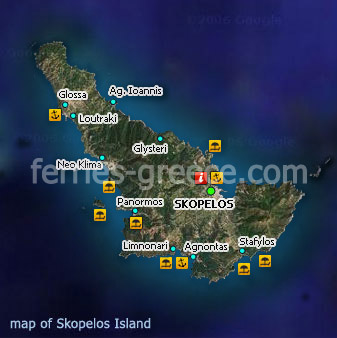 Ferries to Skopelos Skopelos Travel Guide Map