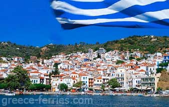 Hora Village Skopelos Sporades Greek Islands Greece