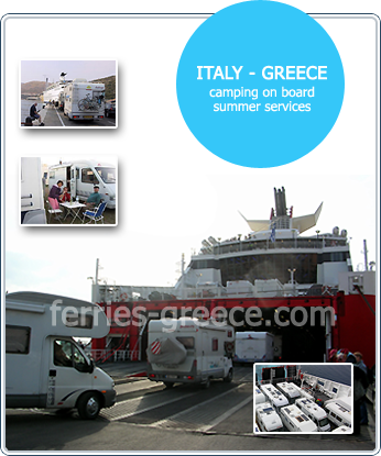 Camping on Board on ferries from Italy to Greece