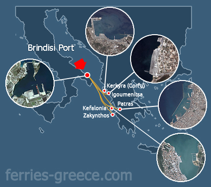 Brindisi Ferries - Veerschema's - Haven von Brindisi